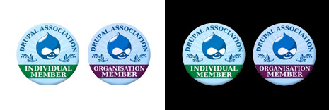 Original Drupal Association Badges