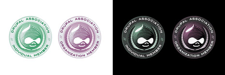 Drupal Association Badge Design Concept 1