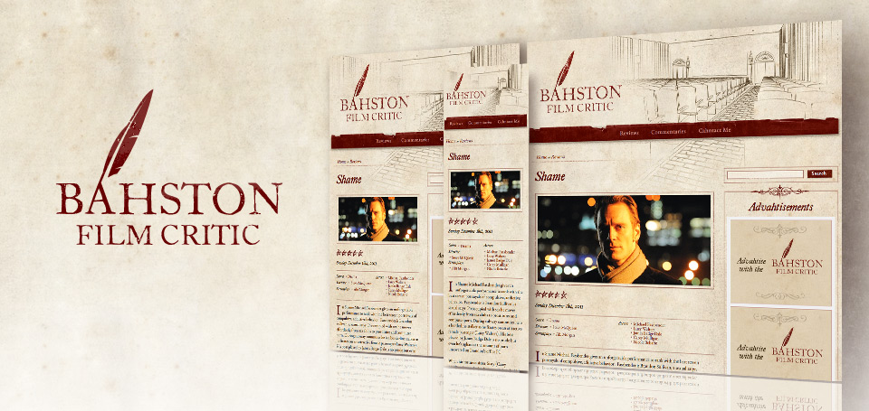 Bahston Film Critic Identity and Responsive Website Design