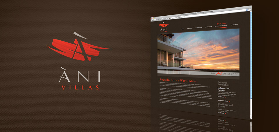 Ani Villas brand identity and website deployment.