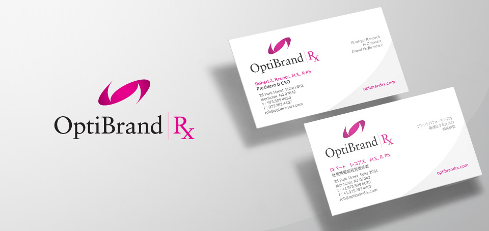 OptiBrand RX Brand Identity Design and Stationery