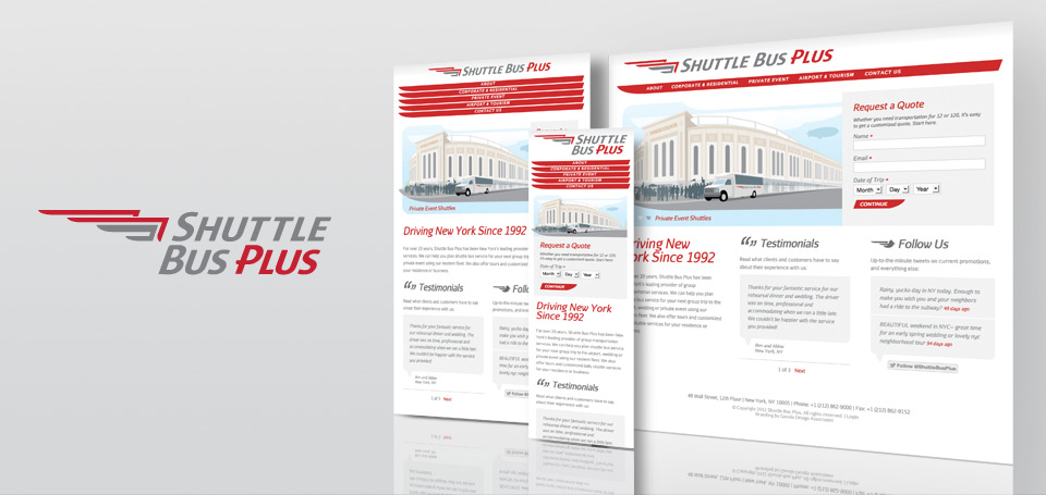 Shuttle Bus Plus Identity and Responsive Website Design