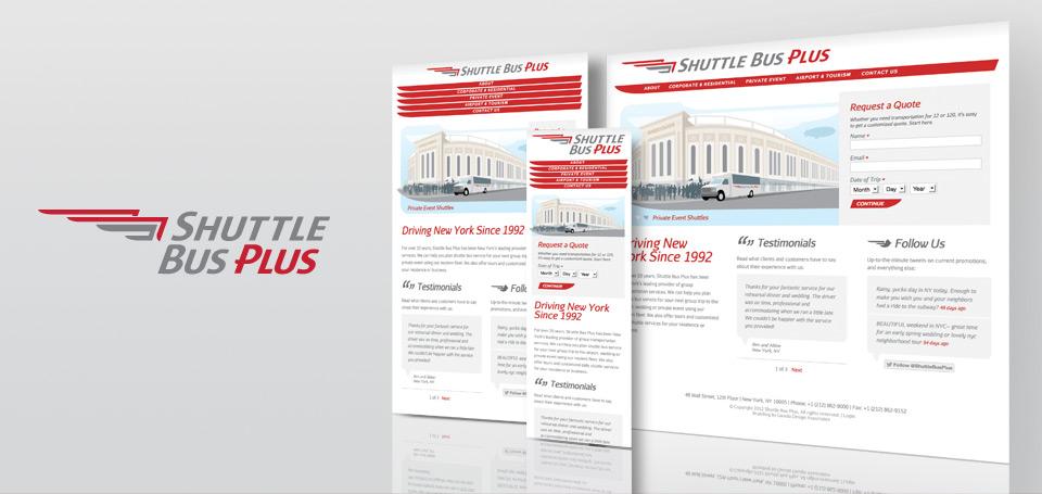 Shuttle Bus Plus Identity and Responsive Website Design