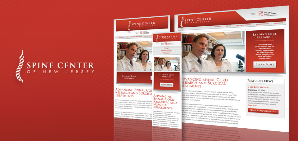 Spine Center of New Jersey Identity and Responsive Website Design
