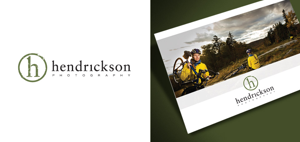 The new identity and postcard design for Hendrickson Photography.