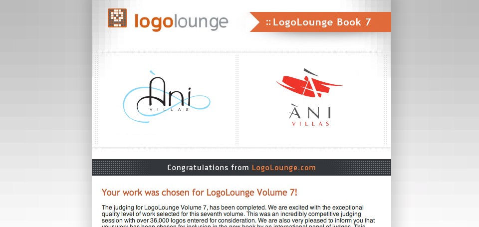 LogoLounge Volume 7 includes Ani Villas Logos