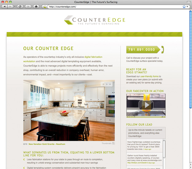 CounterEdge Landing Page