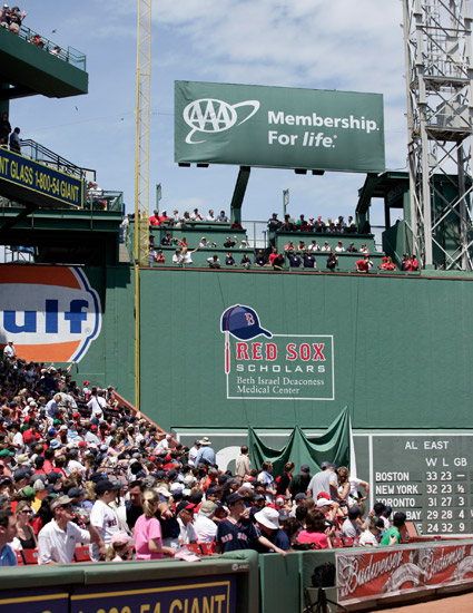 Red Sox Scholars Identity on Green Monster