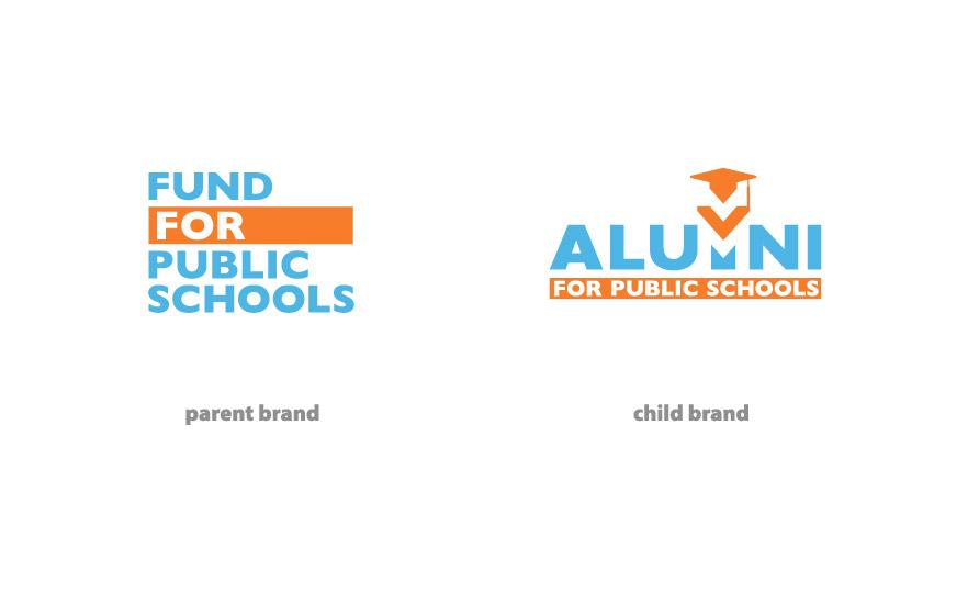 Alumni for Public Schools Identity brand family