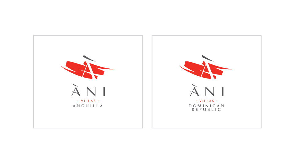 Ani Villas positive logo system