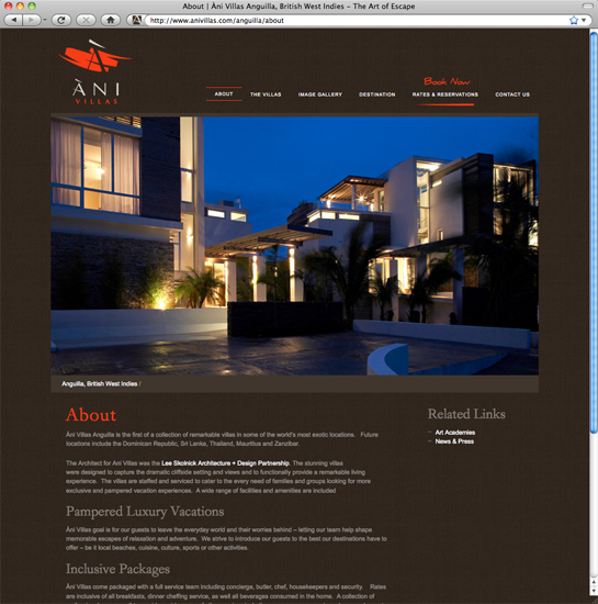 Ani Villas Site About Page