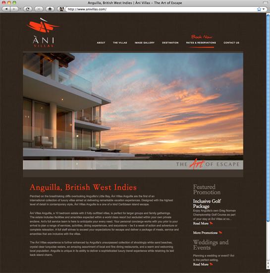 Ani Villas Site Anguilla Home Page