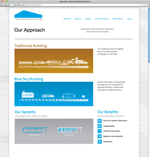 Blue Sky Site Approach Page