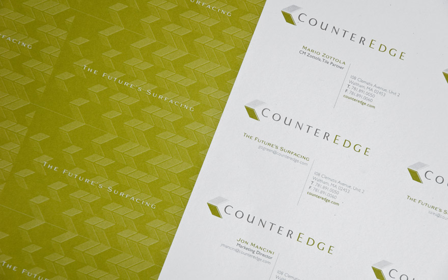 Counter Edge cards press sheet