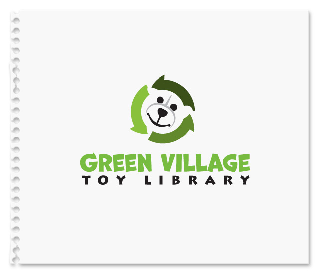 Green Village Toy Library Identity Concept 1