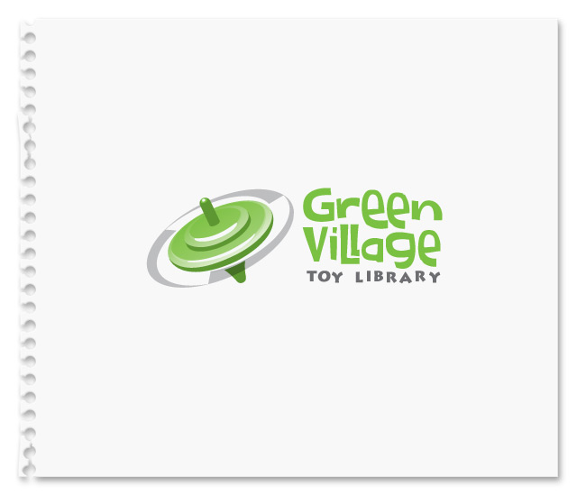Green Village Toy Library Identity Concept 2