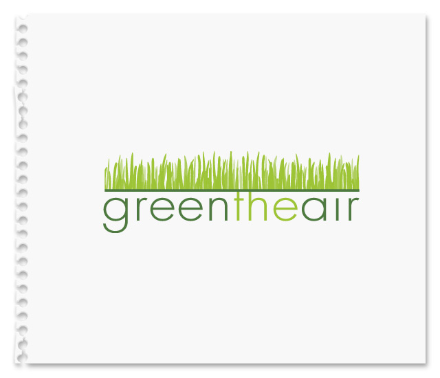 Logo concept uses grass as an icon to visualize