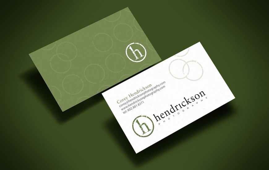 Hendrickson Photography Business Cards