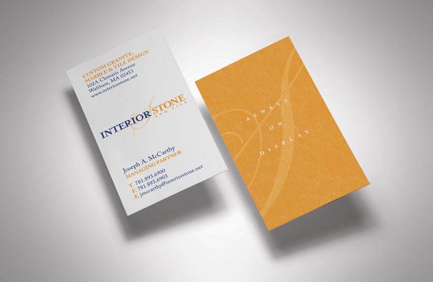 Interior Stone and Tile Business Cards