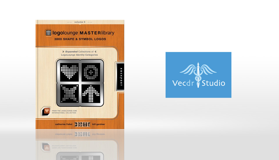 Vecdr Studio logo featured in LogoLounge Shapes & Symbols