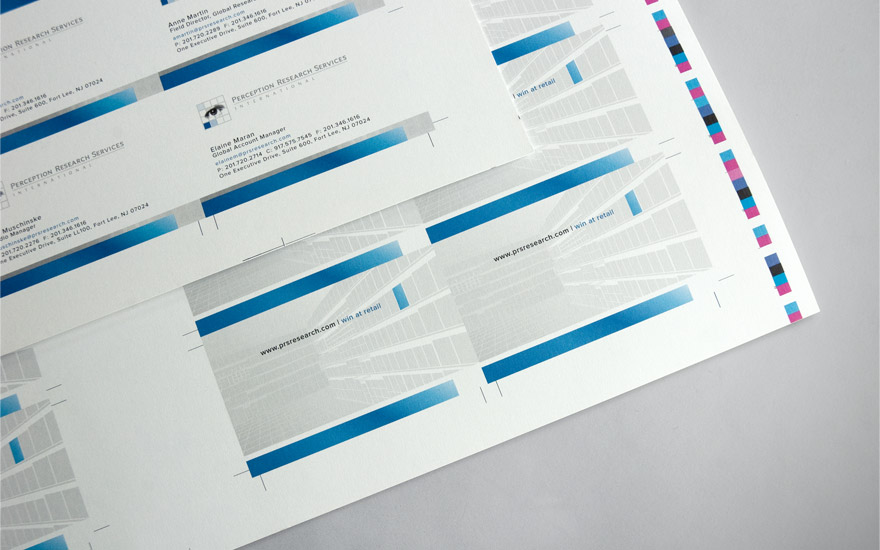 PRS Business Card Press sheets