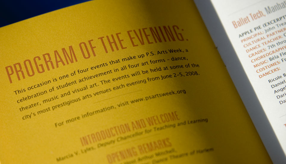 Ps Arts Week Event Program Detail | Gavula Design
