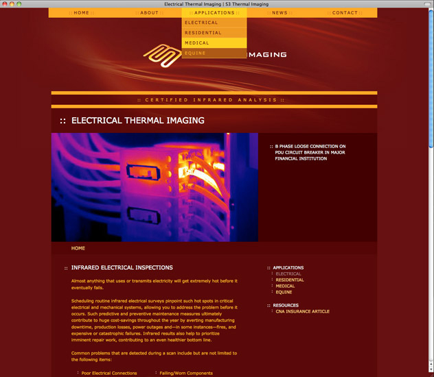 S3 Thermal Imaging Website Electrical Applications Page