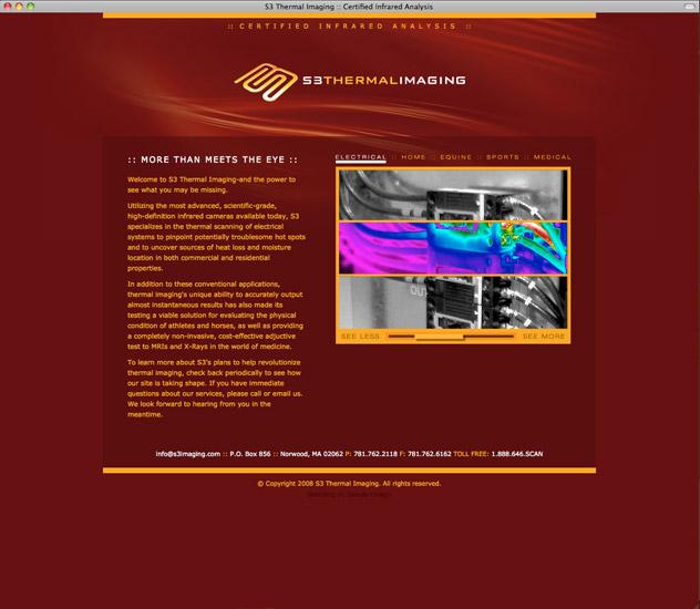 S3 Thermal Imaging Landing Page