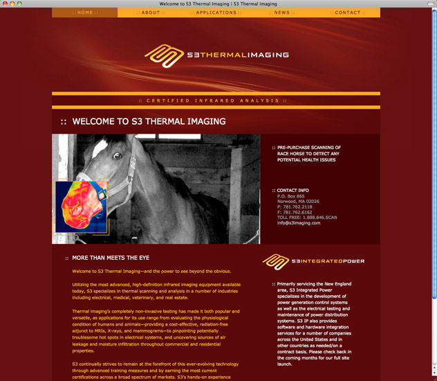 S3 Thermal Imaging Home Page
