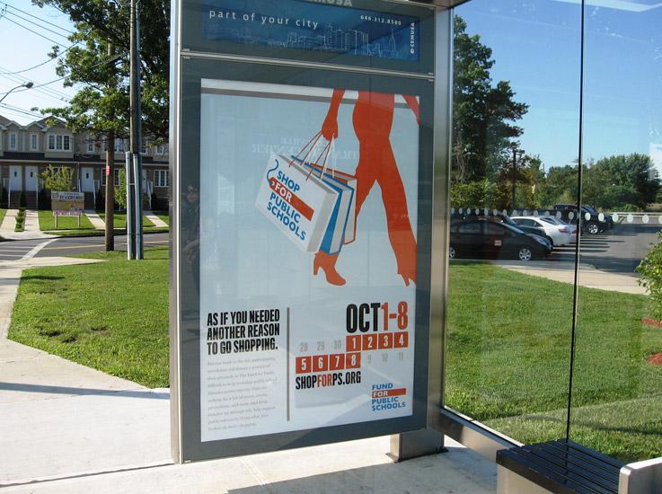 Shop for Public Schools Bus Shelter Ad
