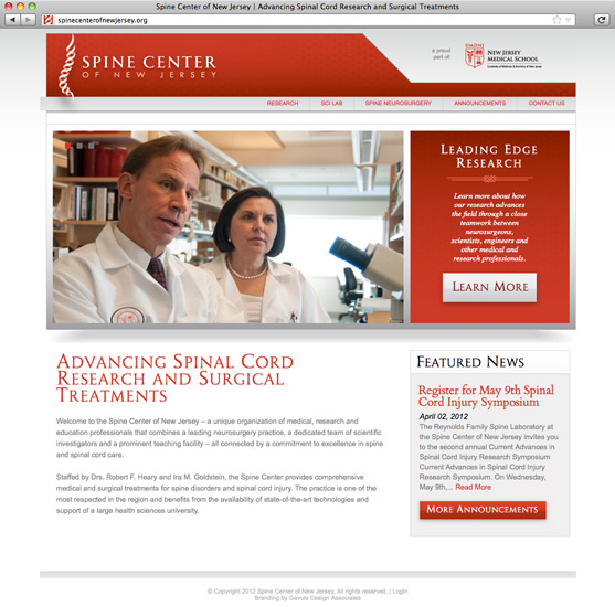 Spine Center of New Jersey Site Home