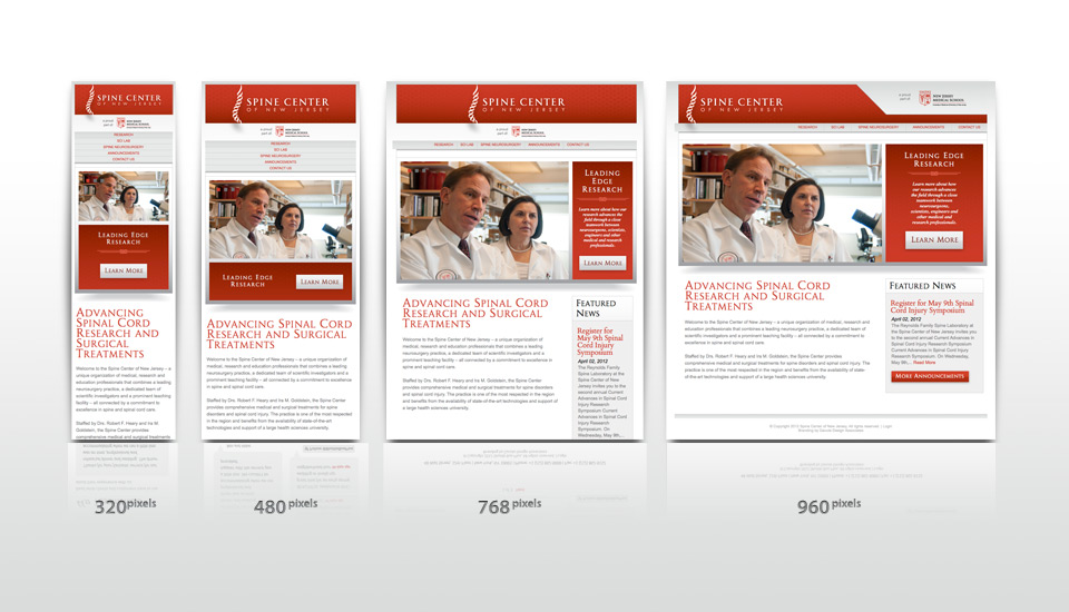 Spine Center of New Jersey Site Responsive