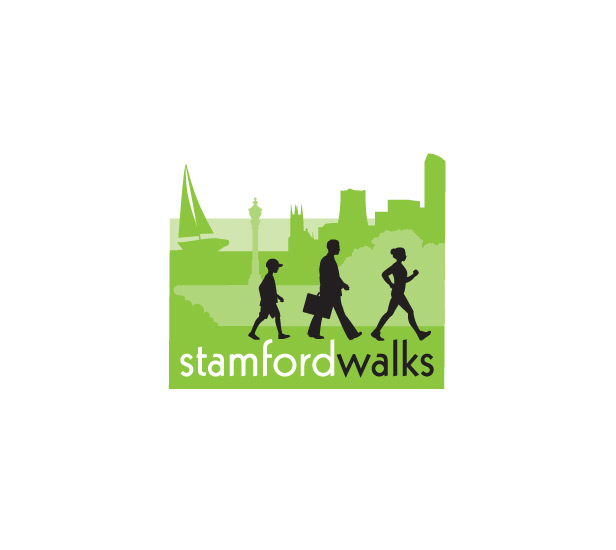 Logo for Stamford Walks illustrating activity among a deserve group in Stamford'