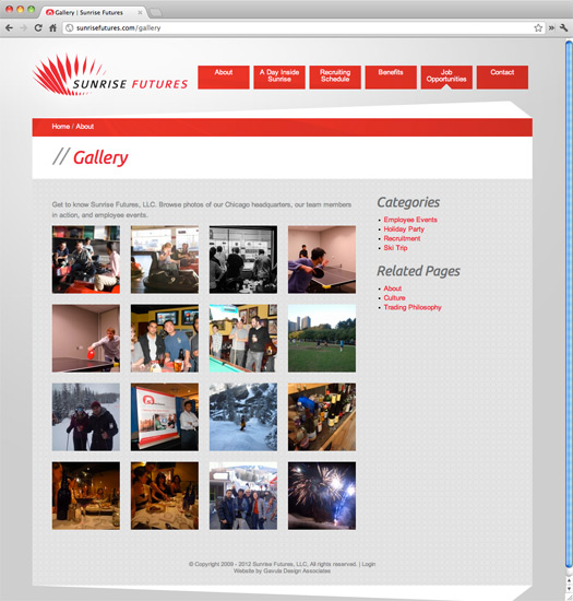 Sunrise Futures Site Gallery Page