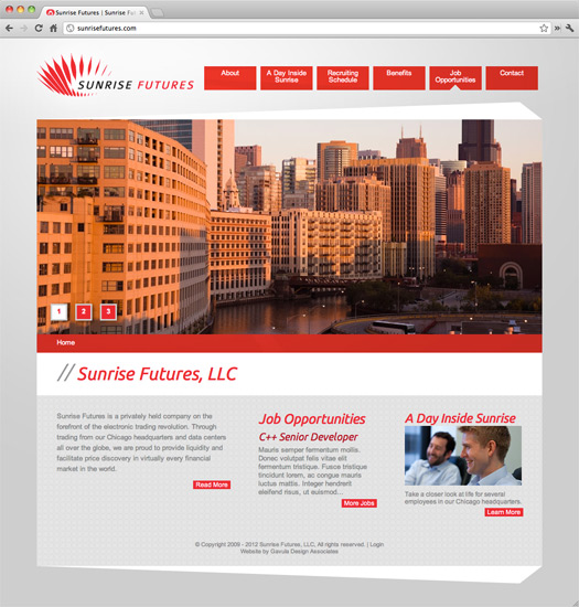 Sunrise Futures Site Home Page