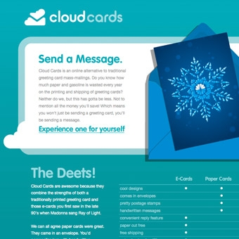 Cloud Cards Website