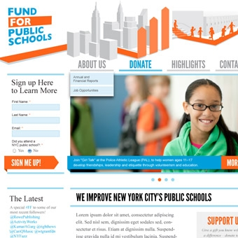 The Fund for Public Schools Site