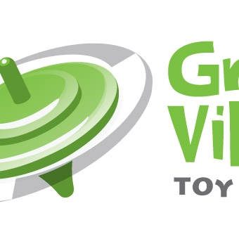 Green Village Toy Library Identity
