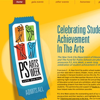 PS Arts Week Website