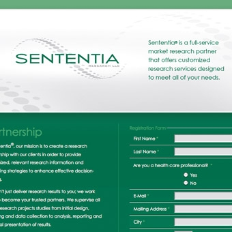 Sententia Research Landing Page